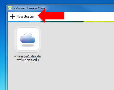 How to add the new desktop to VMware Horizon Client – Penn